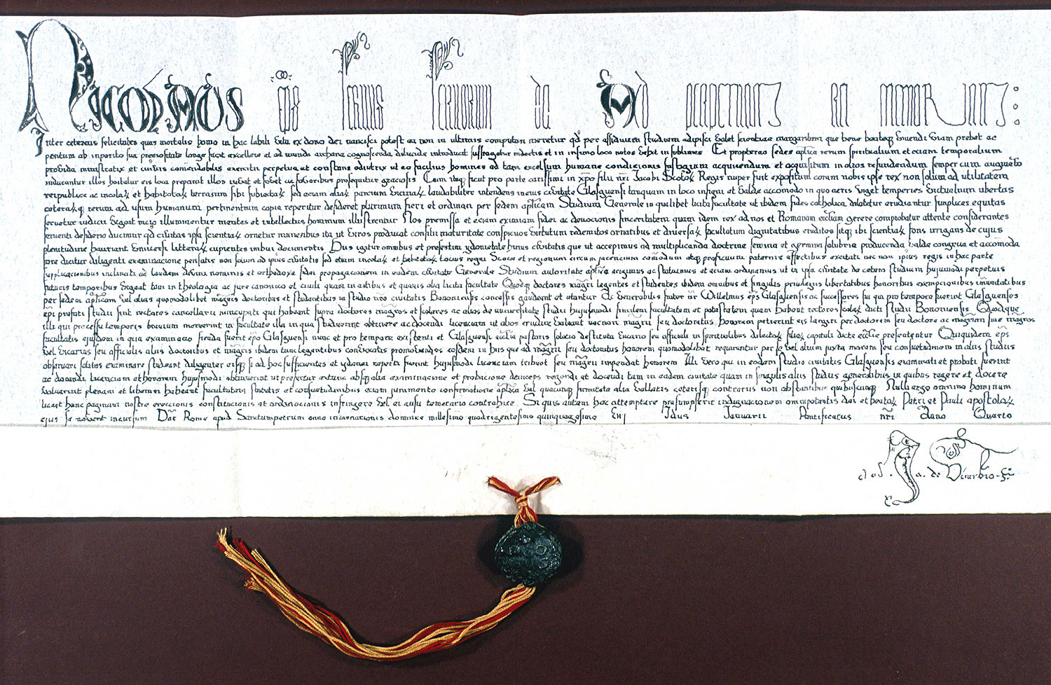 University of Glasgow :: Story :: The Papal Bull