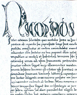 Part of the Papal Bull