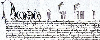 Papal Bull (section)