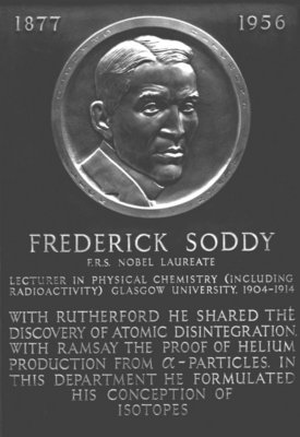Frederick Soddy Plaque