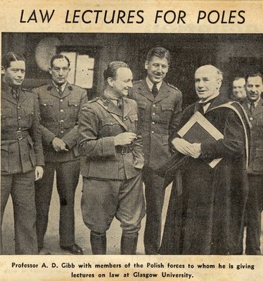 Prof Dewar Gibb with Polish Students
