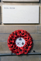 Roll of Honour Tablet and Wreath