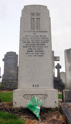 The Devine Family's Gravestone