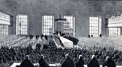 Sir Robert Peel delivering his rectorial installation address