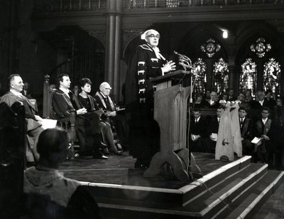 Lord Reith delivering his rectorial installation address
