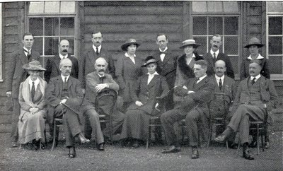 Agnes Borthwick at Georgetown (standing, centre)