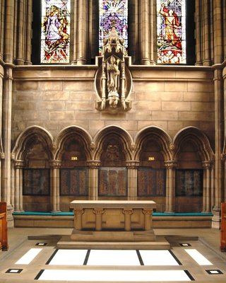 The memorial tablets in Glasgow University Chapel