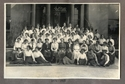 Ruth Pirret in Ashburne House Hall group photograph (2nd row, 7th from right)