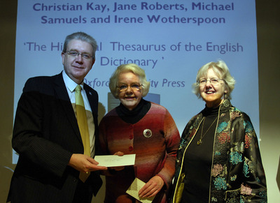 Christian Kay and Jane Roberts receive a Saltire Book of the Year Award