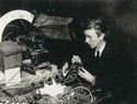 "John Logie Baird working on the ""Falkirk Transmitter"", 1926"