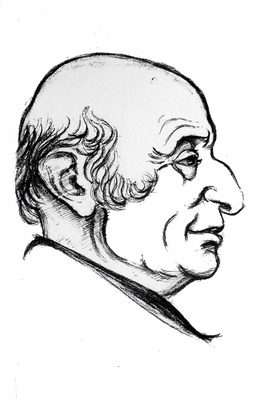Alec Nove, sketch by unknown artist