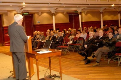 Victor Hawthorne delivers a speech to mark 30 years of MIDSPAN, 2005