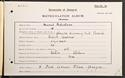 Muriel Robertson's matriculation record, 1901