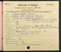 Sam Curran's matriculation record page 1, 1931