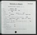 Willie Ross' matriculation record, 1930