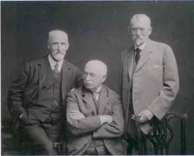 Oswald Fergus (middle) with his brothers John and Andrew, c1927
