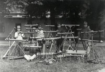 Barr and Stroud and other rangefinders being tested by Austro-Hungarian soldiers, 1911