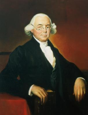The official portrait of Supreme Court Justice James Wilson