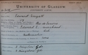 Edward Weigall, Matriculation Slip 1884-85