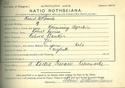 Robert William Service, Matriculation Slip 1893-94