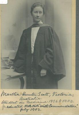 Martha Hunter Scott, graduation 1903