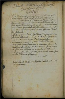Benjamin Coleman, Register of Diplomas 1731