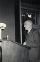 Professor Roger giving his lecture 'Some Observations on Mental Health Services in Scotland under the National Health Services Act' to the Medical Institute of Kiev, 1955.