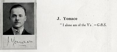 Edward Yonace, Medical Year Book 1928