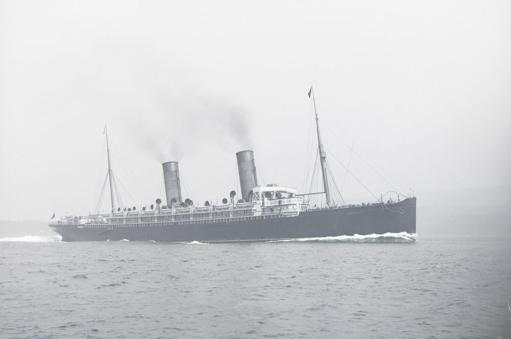 HMS Campania, converted Cunard Line ocean liner to seaplane tender and aircraft carrier for WWI