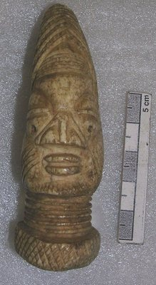 Carved ivory head (Ikan ifa)