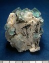 Specimen of fluorite, tourmaline, beryl and K-feldspar