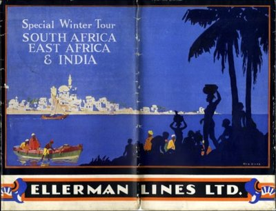 Ellerman Lines brochure for winter tours to South Africa, east Africa  and India