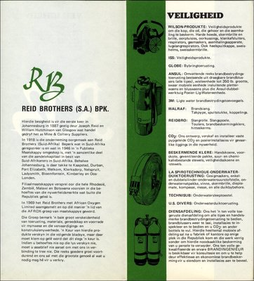 Sales leaflet for Reid Brothers, (South Africa)