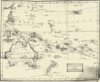 Map of the pacific islands including Nauru (1830s)
