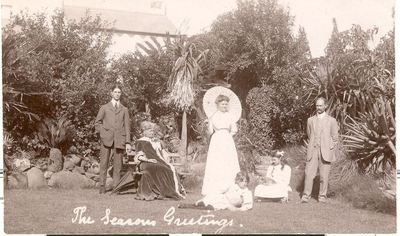 Dr John Innes Brownlee (far right) and family