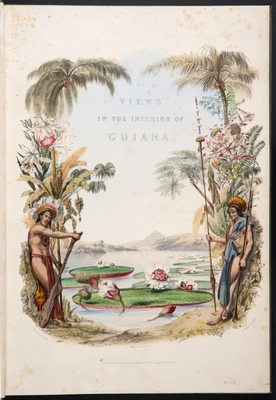 Title page of Twelve views in the interior of Guiana
