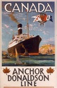 Poster advertising Anchor-Donaldson Line voyages to Canada