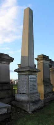 Necropolis memorial to Lt James Douglas Gibson