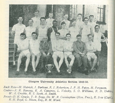 GUAC athletics section 1949-50