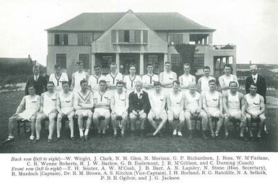GUAC athletcs 1932-3, Robin Murdoch is captain