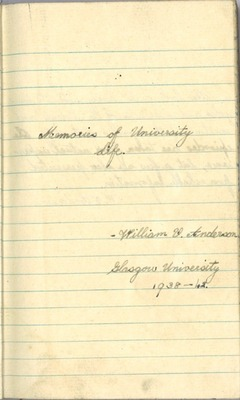 William Valder Anderson's Diary (ACCN3871/1)