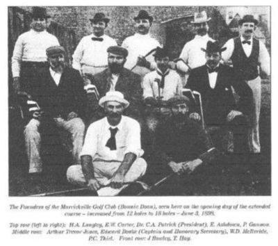 The founders of the Marrickville golf club including Charles A Patrick