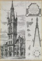 Gilbert Scott Building - Engraving of the Stone Spire
