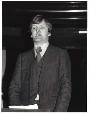 Charles Kennedy at a GUU debate, 1981