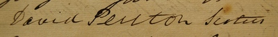 David Perston, signature in Register of Doctors of Medicine, 1821