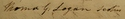 Thomas Galbraith Logan, signature in Register of Doctors of Medicine, 1827