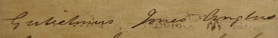 William Jones, signature in Register of Doctors of Medicine, 1818
