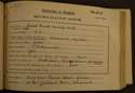 James Ewart Kennedy Cook, matriculation slip, 1912-13