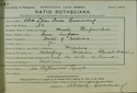 Alice Cumming Matriculation Slip