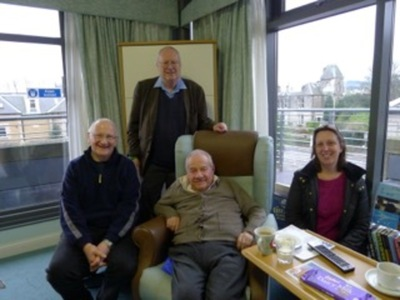 Ronald Drever, with Sheila Rowan, Harry Ward and James Hough
